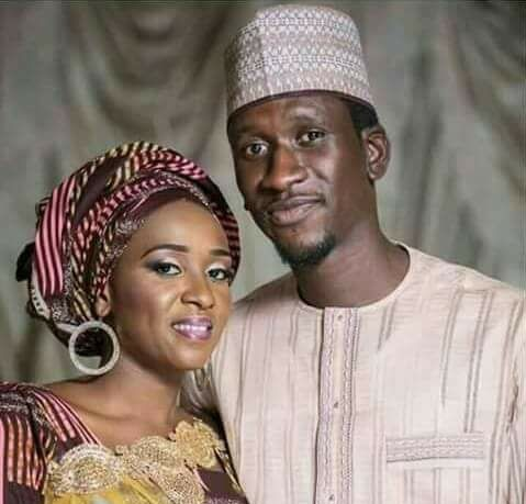 Late Bilyamin Bello and widow, Maryam Sanda