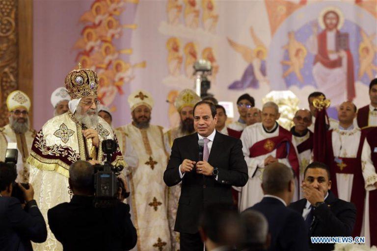 Egyptian President participates in Coptic Christmas celebration