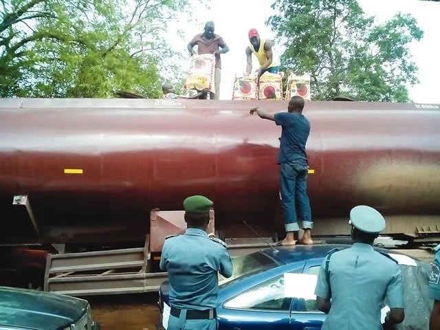 Customs intercepts smuggled rice concealed in petrol tank
