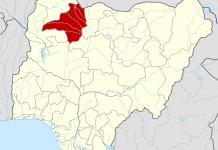 Map of Nigeria, highlighting Zamfara in red.