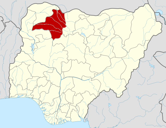 Map of Nigeria, highlighting Zamfara in red.