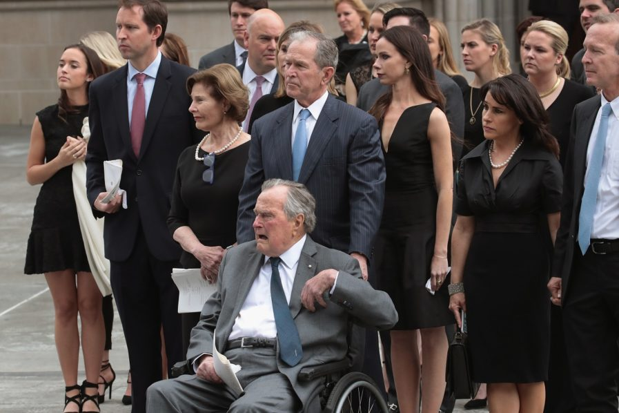 Former US President George Bush hospitalised