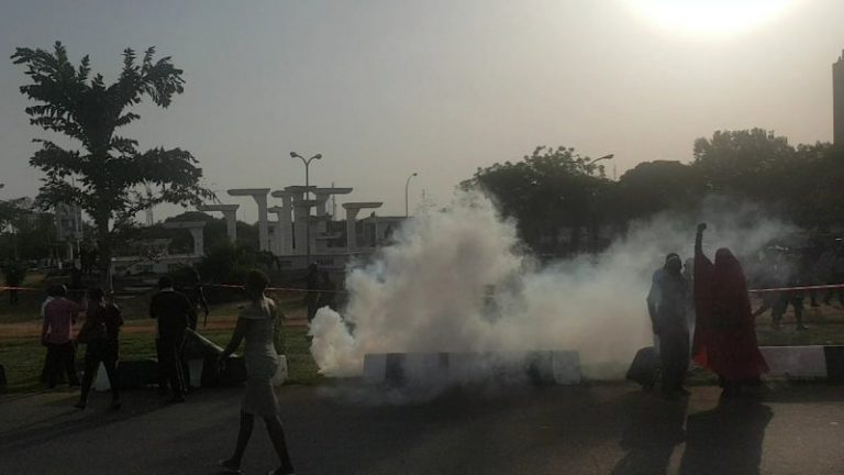Nigerian police defy BBOG's 72-hour ultimatum, disperse group with teargas