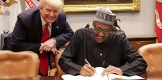 Presidents Buhari and Trump