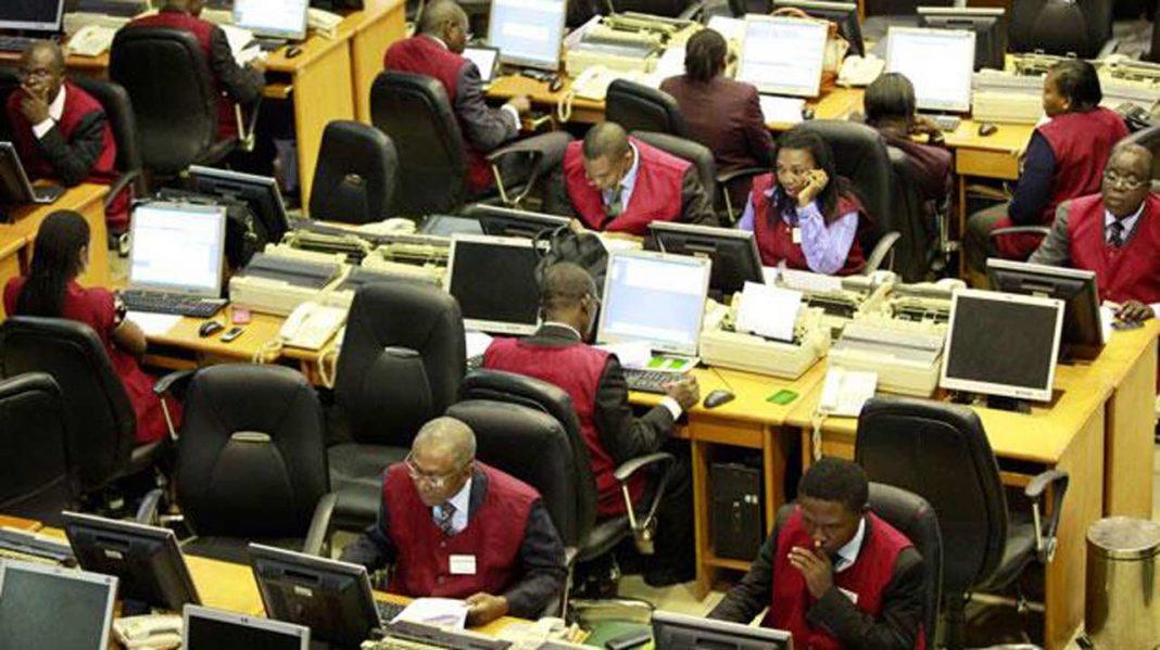 The floor of Nigerian Stock Exchange