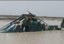 Nigerian Air Force Agusta 106 Light Utility Helicopter crashed into lagoon