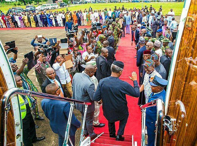 Osinbajo visits Benue IDPs, says killings not product of any planned agenda