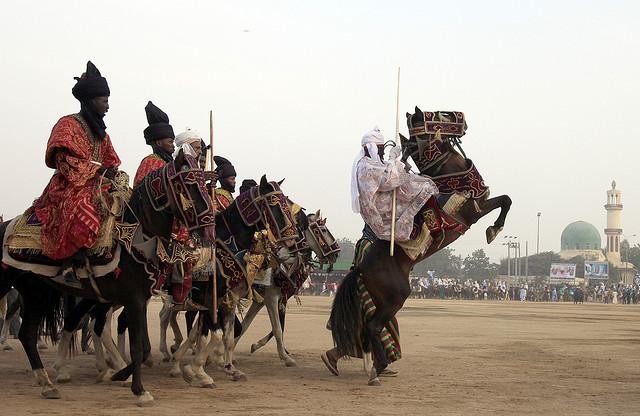 Sallah Durbar:10 riders fall off horses in Dutse
