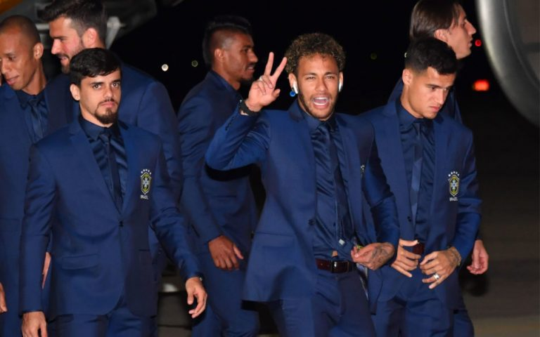 Brazil touch down in Russia ahead of World Cup