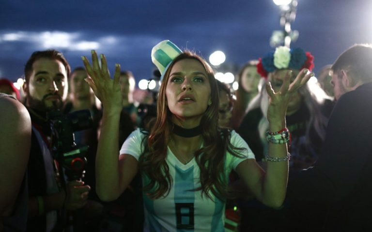 Argentine fans weep as World Cup dream fades