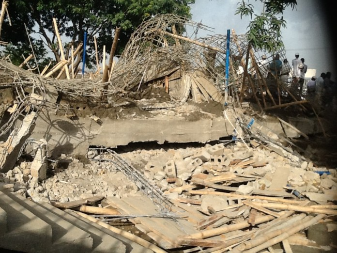 A recent scene of building collapse in Zaria