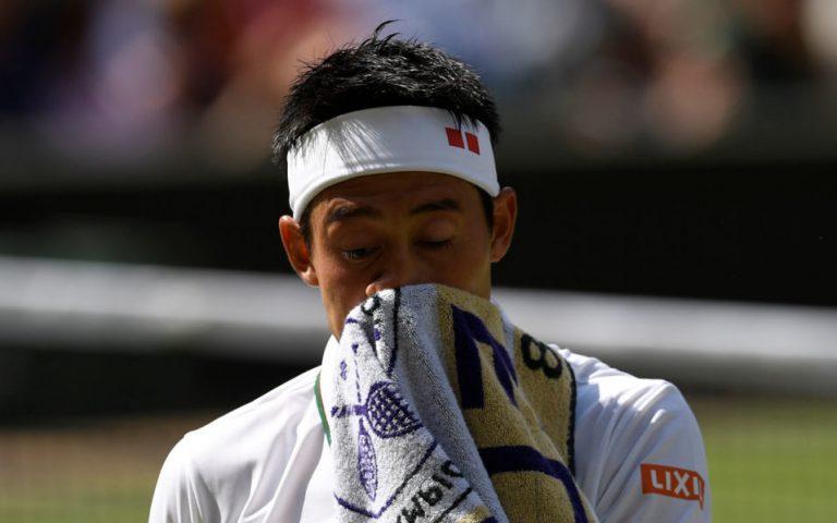Nishikori feels 'tough' after overcoming wrist injury