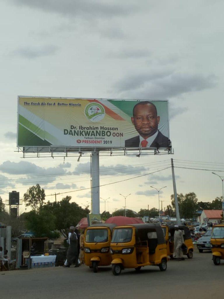 Adamawa govt plans to dismantle Gov Dankwambo presidential campaign billboard