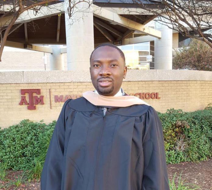 Abegunde Olufolajimi at Graduation in US