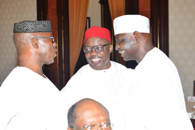 Former PDP governor, Emmanuel Uduaghan, shows up at APC meeting in Aso Rock