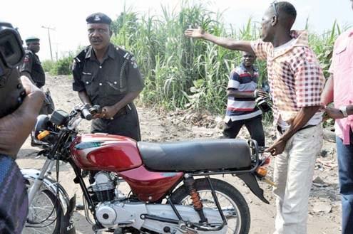 Policeman and Okada