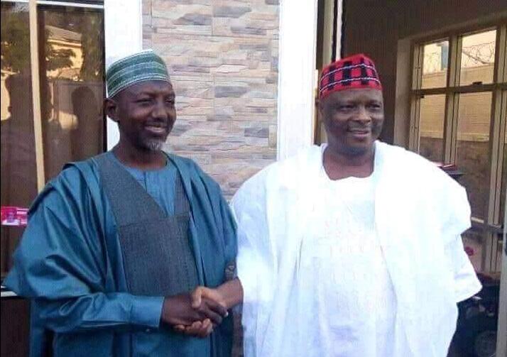 Salihu Sagir Takai with his new political leader, Senator Rabiu Musa Kwankwaso