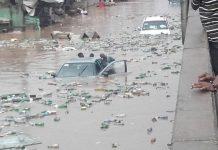 Flood scene for illustration