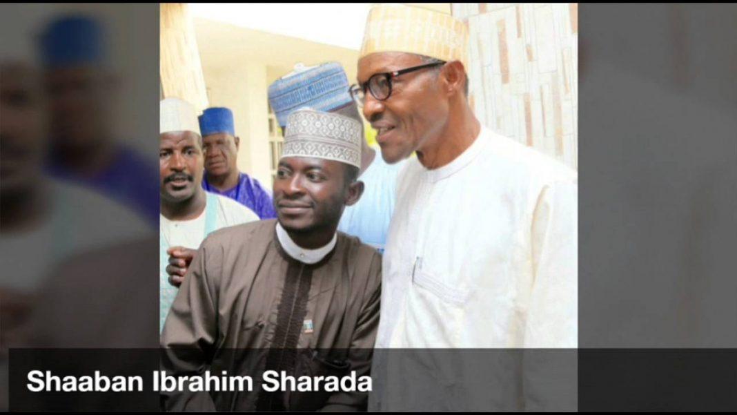 President Muhammadu Buhari and Sha'aban Sharada