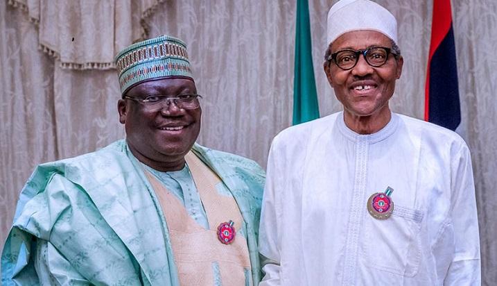 Sen. Ahmed Lawan and President Muhammadu Buhari