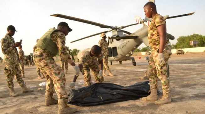 A Nigerian Air Force aircraftman has been killed by the propeller of the force helicopter in Bama, Borno State on Saturday, April 6, 2019.