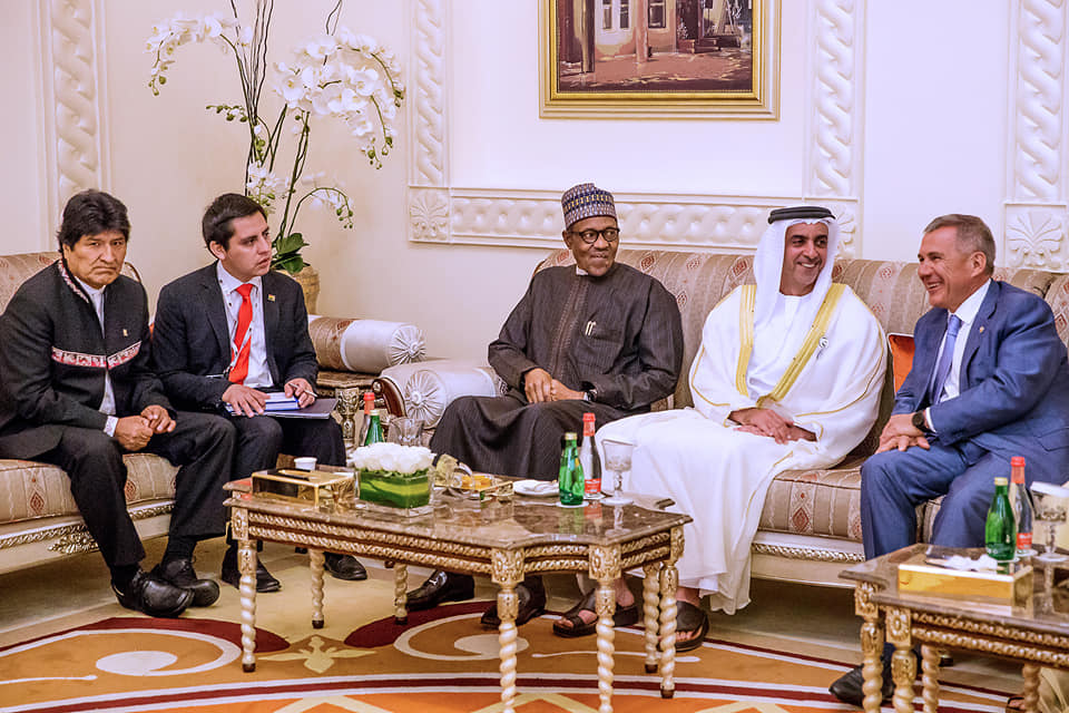 President Buhari in Bilateral Meetings at the Sidelines of Annual Investment Meeting in Dubai on 8th April 2019