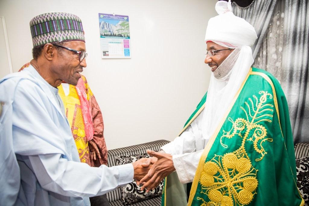 FILE PHOTO: President Muhammadu Buhari and Emir of Kano, Muhammadu Sanusi II