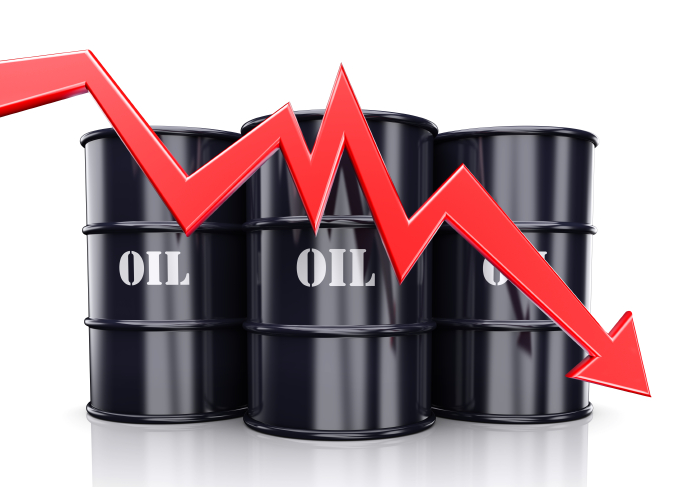Oil prices fall as trade war concerns mount