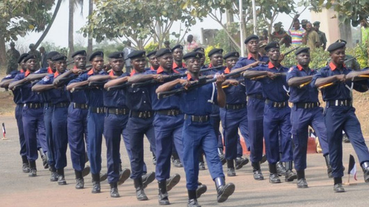 NSCDC personnel on parade