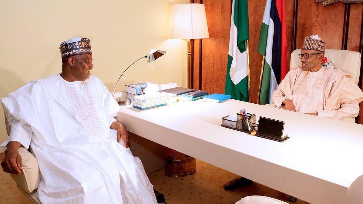 FILE PHOTO: President Muhammadu Buhari and Governor Aminu Waziri Tambuwal of Sokoto State