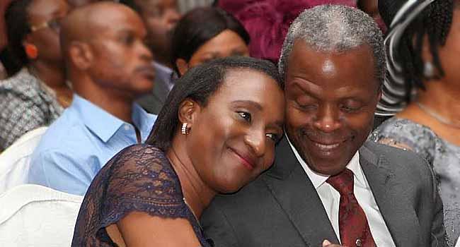 Vice President Yemi Osinbajo and wife