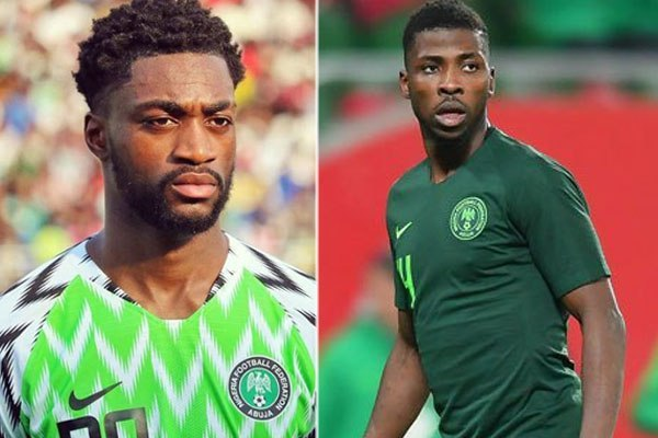 Composite picture shows Ajayi (left) and Iheanacho (right)