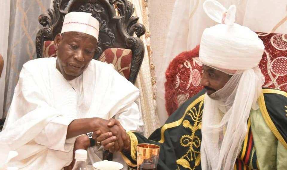 Emir Muhammadu Sanusi and Governor Abdullahi Ganduje