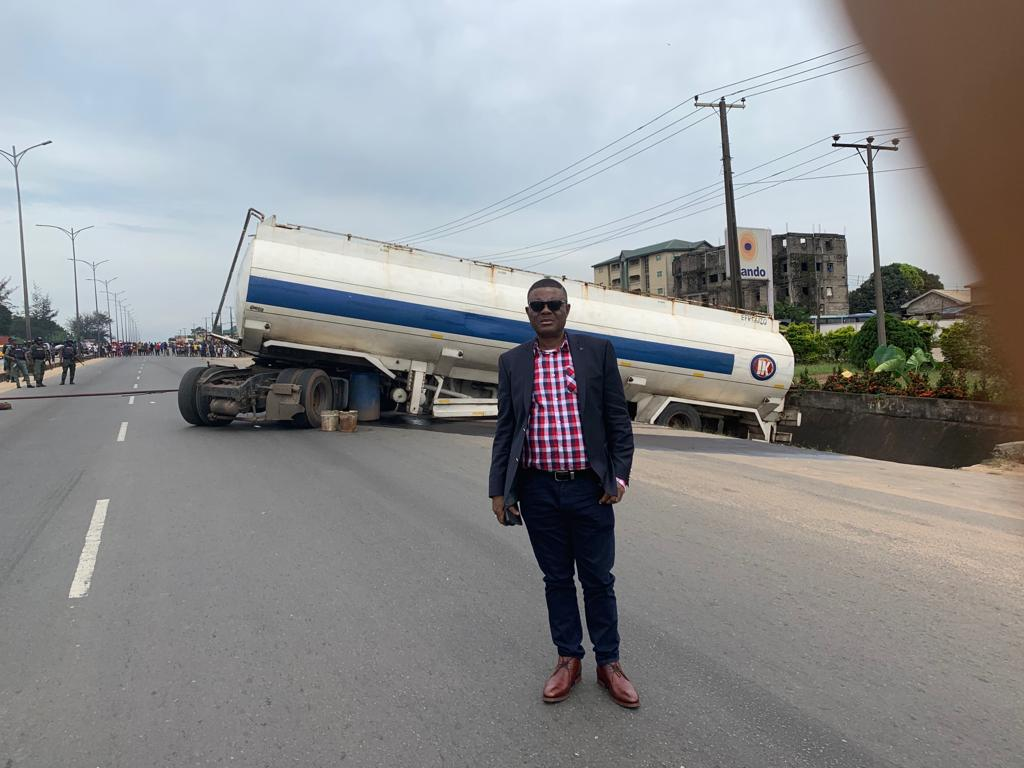 Tanker accident in Onitsha