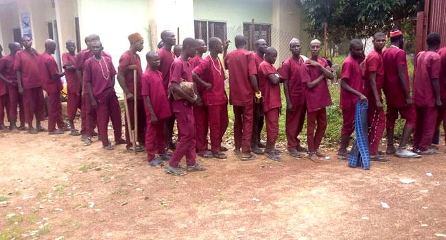 Rescued inmates of Kaduna Rehabilitation Center