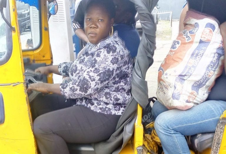 Female graduate turns Keke NAPEP rider in Lagos