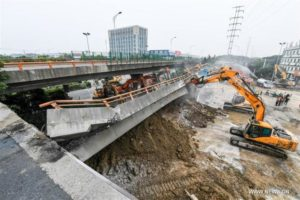 Three dead in China highway overpass collapse