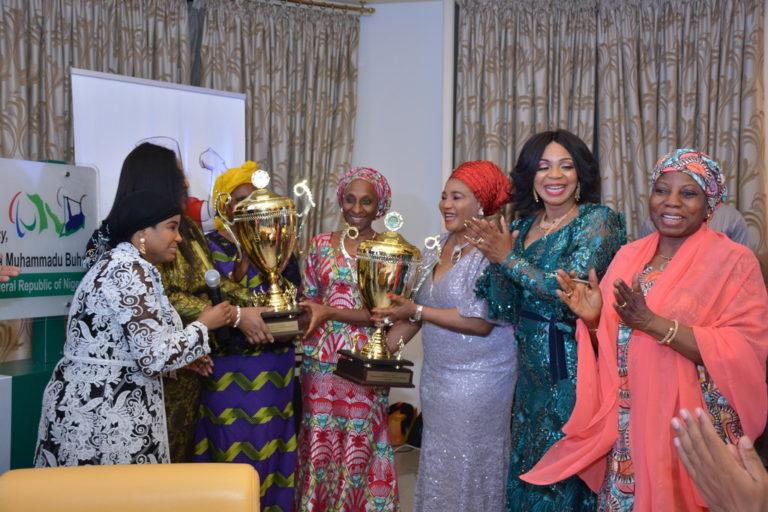 Aisha Buhari unveils athletes for 2020 world para-power-lifting cup