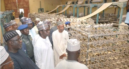 8 years after closure, Buni revives woven sack factory in Damaturu