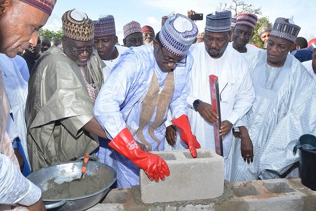 Buni vows to accelerate Yobe's economic growth as Damaturu Ultra-Modern Market construction begins
