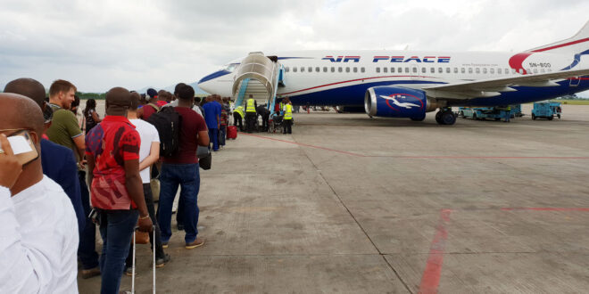 Man caught while attempting to secretly board Air Peace aircraft 'to convey him overseas'
