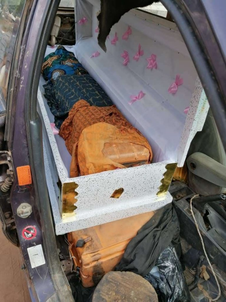 Nigeria Customs intercepts jerrycans of petrol concealed in 2 caskets