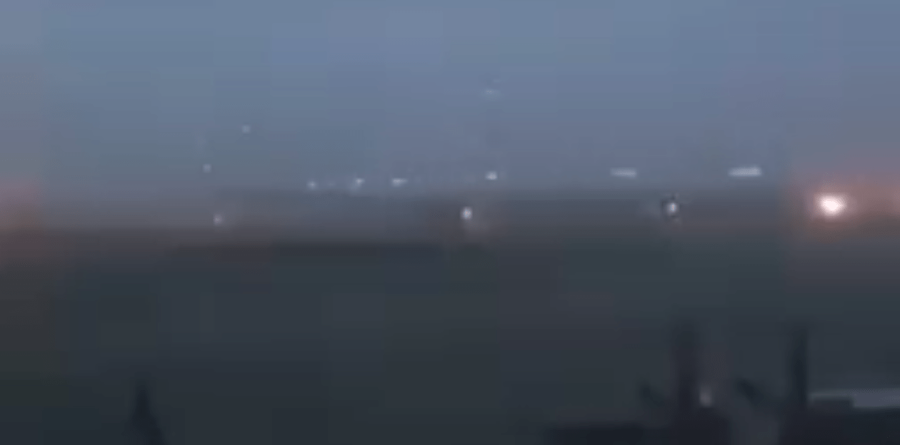 A screengrab from a video of Nigerian soldiers battling the attack.