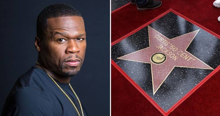 American singer, 50 Cent, receives star on Hollywood Walk of Fame