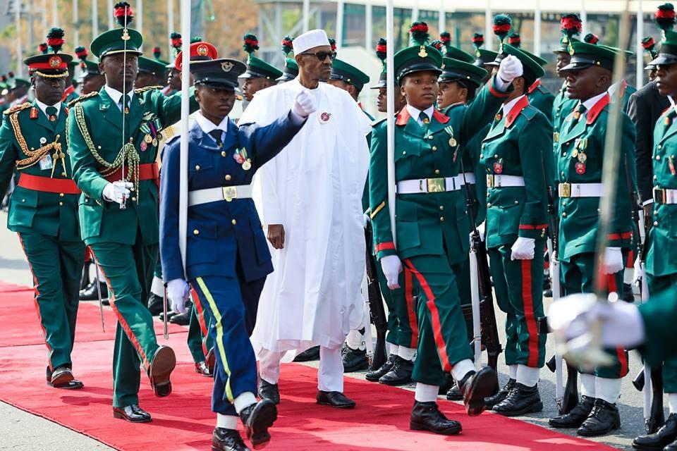 President Muhammadu Buhari at Armed Forces Remembrance Day celebration