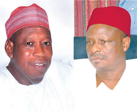 Governor Abdullahi Umar Ganduje and former governor Rabiu Kwankwaso