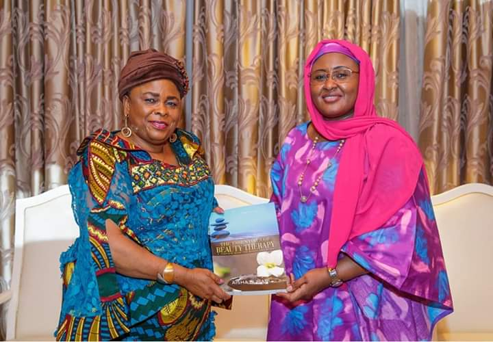 Wife of former president Goodluck Jonathan, Patience Jonathan and Wife of President Muhammadu Buhari, Aisha Buhari
