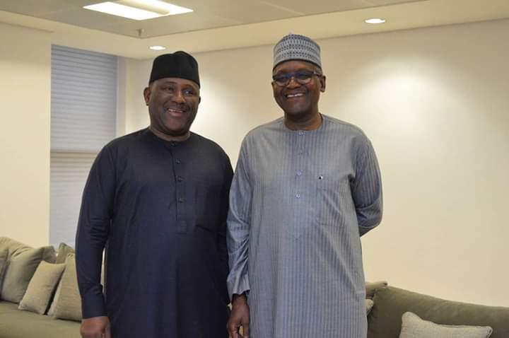 Dangote visits BUA Group chair, Abdul Samad