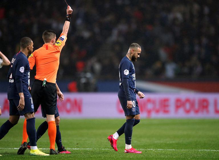 Neymar sent off as shaky PSG beat Bordeaux in Ligue 1