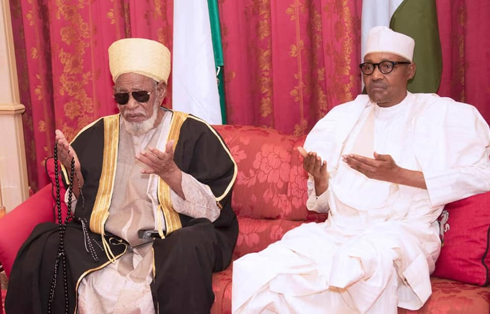 Sheikh Dahiru Bauchi visits President Muhammadu Buhari at Aso Rock on Sunday, February 16, 2020